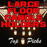 Large Floor Candle Holders
